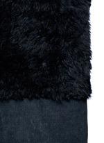 Reversible mesh embossed Alpine lambskin shearling gilet