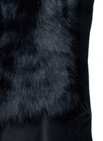 Reversible mesh embossed lambskin shearling drape gilet