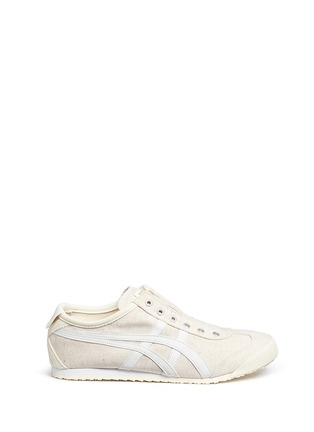 Main View - Click To Enlarge - Onitsuka Tiger - ''Mexico 66' unisex canvas slip-on sneakers