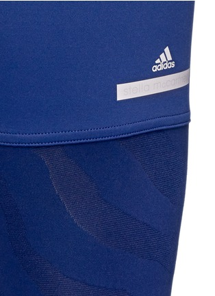 Detail View - Click To Enlarge - Adidas By Stella Mccartney - 'Studio Zebra' three-quarter tights