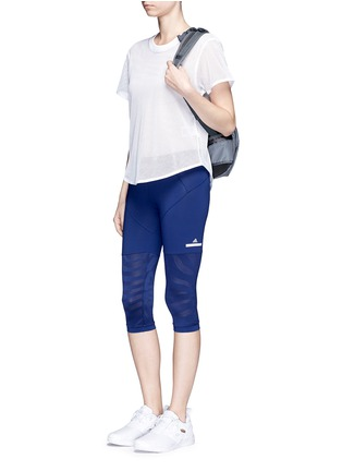 Figure View - Click To Enlarge - Adidas By Stella Mccartney - 'Studio Zebra' three-quarter tights