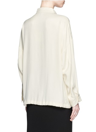Back View - Click To Enlarge - Opening Ceremony - 'Juniper' drawstring twill anorak shirt