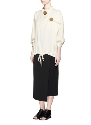 Figure View - Click To Enlarge - Opening Ceremony - 'Juniper' drawstring twill anorak shirt