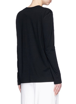 Back View - Click To Enlarge - T By Alexander Wang - Side split hem T-shirt
