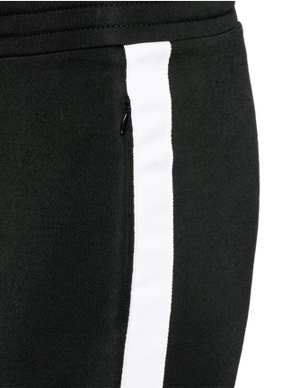 Detail View - Click To Enlarge - T By Alexander Wang - Outseam stripe sleek French terry sweatpants