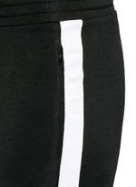 Outseam stripe sleek French terry sweatpants
