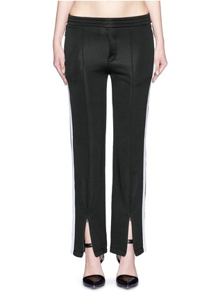 Main View - Click To Enlarge - T By Alexander Wang - Outseam stripe sleek French terry sweatpants