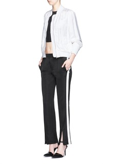 T BY ALEXANDER WANG Outseam stripe sleek French terry sweatpants
