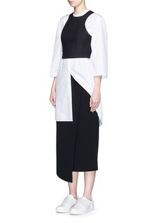 T BY ALEXANDER WANGTech suiting fabric cropped top