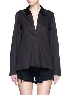 T BY ALEXANDER WANGV-neck cotton poplin shirt