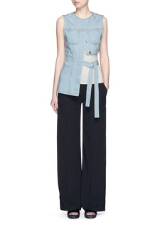 T BY ALEXANDER WANG Wide leg stretch crepe pants
