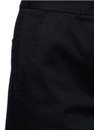 Detail View - Click To Enlarge - T By Alexander Wang - Cropped twill wide leg pants