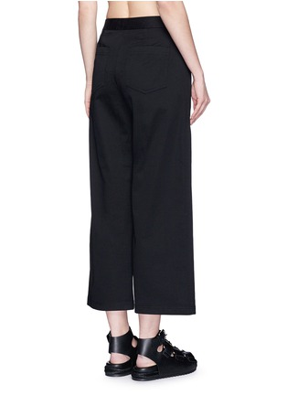 Back View - Click To Enlarge - T By Alexander Wang - Cropped twill wide leg pants