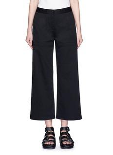 T BY ALEXANDER WANGCropped twill wide leg pants