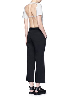 T BY ALEXANDER WANG Cropped twill wide leg pants
