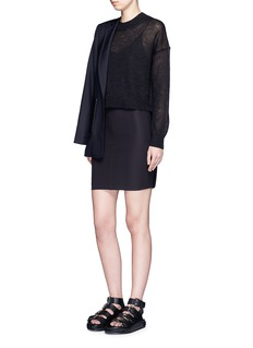 T BY ALEXANDER WANG Tech suiting fabric pencil skirt