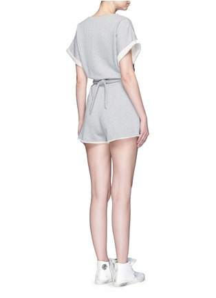 Back View - Click To Enlarge - T By Alexander Wang - Tie back French terry rompers