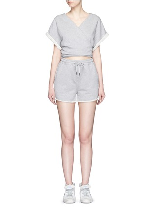 Main View - Click To Enlarge - T By Alexander Wang - Tie back French terry rompers