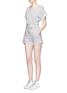 T BY ALEXANDER WANG Tie back French terry rompers