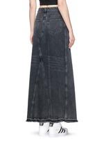 Deconstructed denim maxi skirt