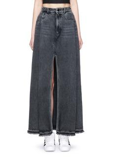 T By Alexander WangDeconstructed denim maxi skirt