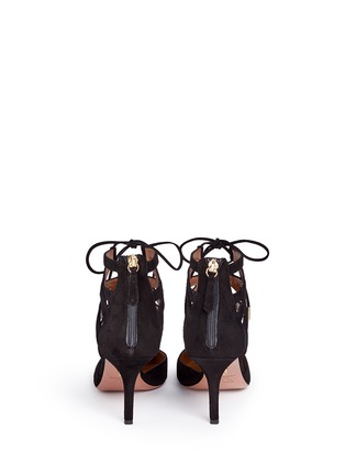 Aquazzura - Belgravia' caged suede pumps