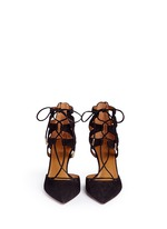 Belgravia' caged suede pumps