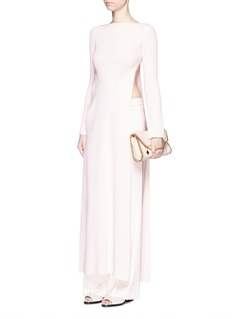 STELLA MCCARTNEY Wool blend rib knit maxi dress
