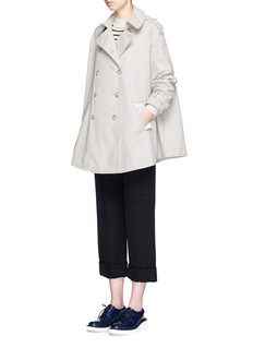 STELLA MCCARTNEY Cotton twill short flare trench coat