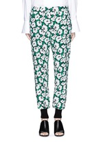 Margarita flower print crepe pants