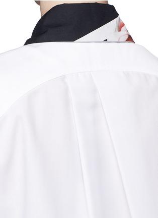 细节 - 点击放大 - PREEN BY THORNTON BREGAZZI - IDA花卉图案拼接纯棉衬衫