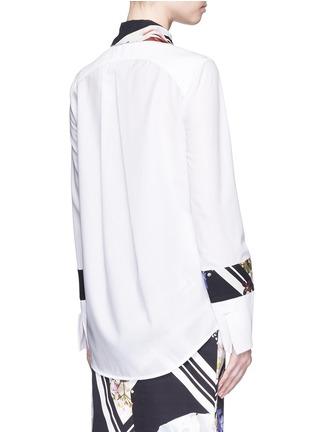 背面 - 点击放大 - PREEN BY THORNTON BREGAZZI - IDA花卉图案拼接纯棉衬衫