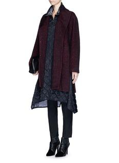 3.1 PHILLIP LIMNotched lapel wool-alpaca oversize coat