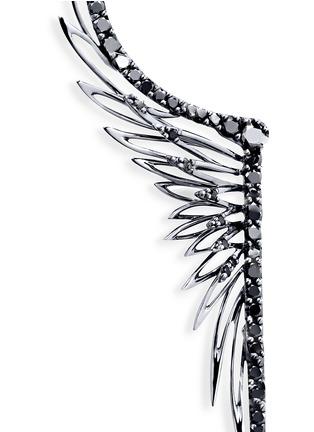 细节 - 点击放大 - CRISTINAORTIZ - Black diamond 9k gold single wing creeper earring