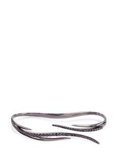 CristinaortizBlack diamond 9k gold hand bracelet