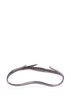 Cristinaortiz Black diamond 9k gold hand bracelet