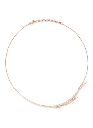 Main View - Click To Enlarge - Cristinaortiz - Diamond 9k rose gold wing necklace