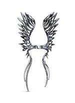 Black diamond 9k gold wing open ring