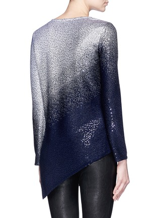 Back View - Click To Enlarge - ST. JOHN - Sequin gradient shimmer knit sweater