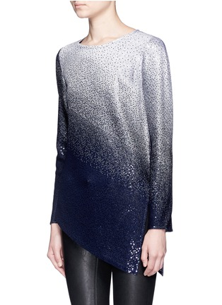 Front View - Click To Enlarge - ST. JOHN - Sequin gradient shimmer knit sweater