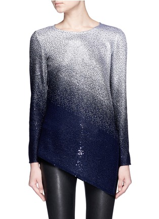 Main View - Click To Enlarge - ST. JOHN - Sequin gradient shimmer knit sweater