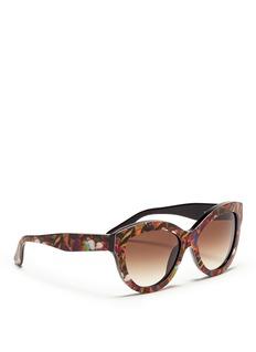 VALENTINO'Camubutterfly' acetate cat eye sunglasses