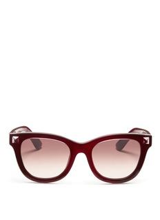 VALENTINOInlaid Rockstud acetate sunglasses