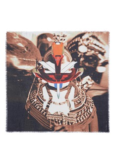 GIVENCHY Tribal and robot print scarf