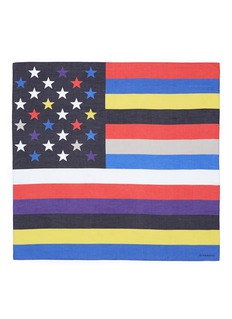GIVENCHY American flag cotton-silk scarf