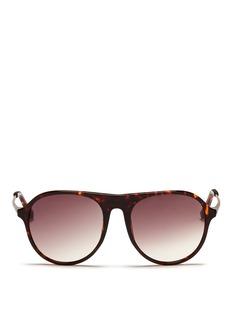 3.1 PHILLIP LIMx Linda Farrow tortoiseshell acetate front aviator sunglasses