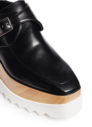 Detail View - Click To Enlarge - Stella McCartney - 'Britt' alter nappa wood platform monk strap shoes