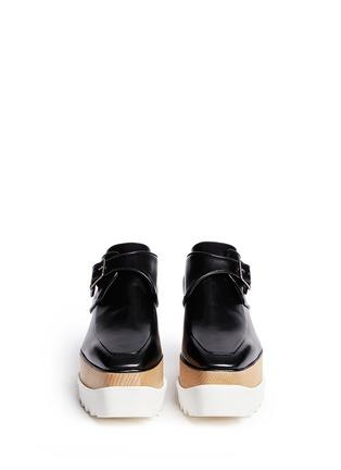 Figure View - Click To Enlarge - Stella McCartney - 'Britt' alter nappa wood platform monk strap shoes