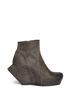 RICK OWENS Spike heel wedge boots