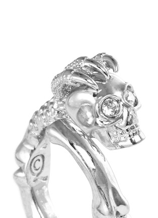 Detail View - Click To Enlarge - Alexander McQueen - Skull claw ring